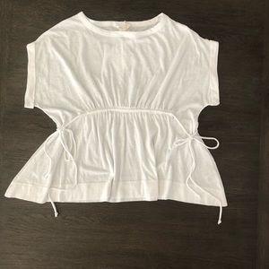 🌤Caslon White Tie & Scrunch T-shirt Size S
